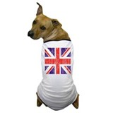 Distressed British Flag Dog T-Shirt