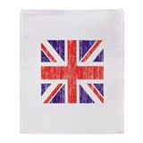 Distressed British Flag Throw Blanket