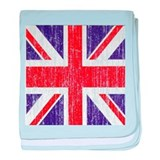 Distressed British Flag baby blanket