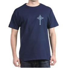 Blue Clouds Celtic Cross T-Shirt