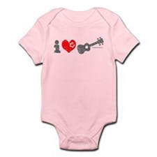 I Love Ukulele Infant Bodysuit