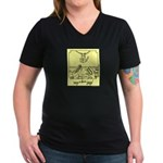 """Hang In There"" Women's V-Neck Dark T-Sh"