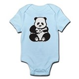 Ukulele Panda Baby Infant Bodysuit