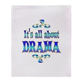 About Drama Throw Blanket