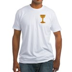The Celtic Grail front/back Fitted T-Shirt