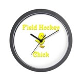 Field Hockey Chick Wall Clock