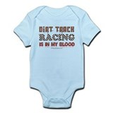 Dirt Track Racing Blood Infant Bodysuit