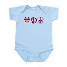 Heart, Peace, Crown - Britiain! Infant Bodysuit