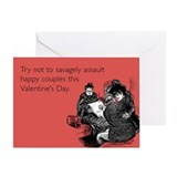 Savagely Assault Couples Greeting Card