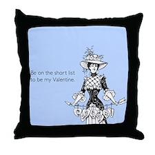 Short List Valentine Throw Pillow