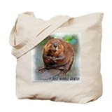 Nibble Gently Beaver Tote Bag