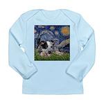 Starry-AussieCattleDogPup Long Sleeve Infant T-Shi