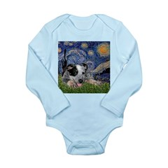 Starry-AussieCattleDogPup Long Sleeve Infant Bodys