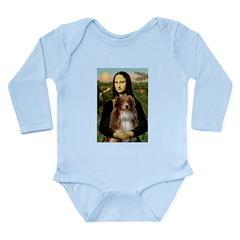 MonaLisa-AussieShep #4 Long Sleeve Infant Bodysuit
