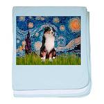 Starry - Tri Aussie Shep2 baby blanket