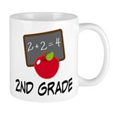 2nd Grade Teacher Apple Coffee Mug