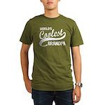 World's Coolest Grandpa Organic Men's T-Shirt (dar