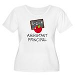 Assistant Principal Women's Plus Size Scoop Neck T