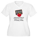 Assistant Principal Women's Plus Size V-Neck T-Shi