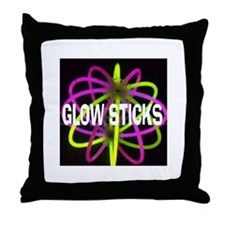 Glow Sticks Throw Pillow