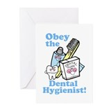 Obey the Dental Hygienist Greeting Cards (Pk of 20