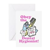 Obey the Dental Hygienist Greeting Card