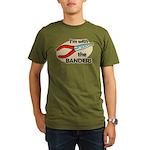 I'm with the Banders Organic Men's T-Shirt (dark)