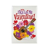 Ukulele Valentine Rectangle Magnet