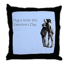 Hug A Loner Throw Pillow