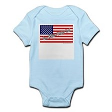One Nation Under God W/American Flag Infant Bodysu