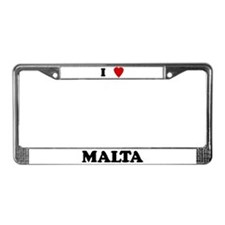 I Love Malta License Plate Frame