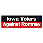 Iowa Voters Against Romney sticker