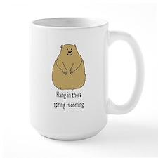hang in there groundhog Mug