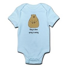 hang in there groundhog Infant Bodysuit