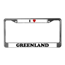 I Love Greenland License Plate Frame