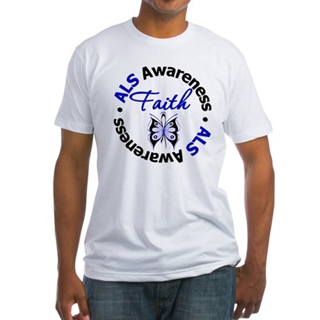 ALS Faith Butterfly Fitted T-Shirt