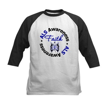 ALS Faith Butterfly Kids Baseball Jersey