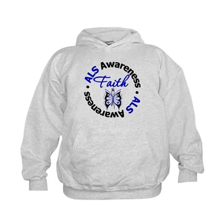 ALS Faith Butterfly Kids Hoodie