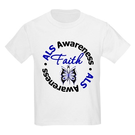 ALS Faith Butterfly Kids Light T-Shirt