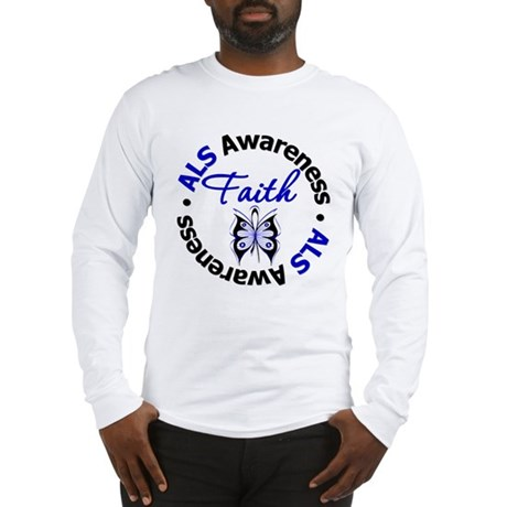 ALS Faith Butterfly Long Sleeve T-Shirt
