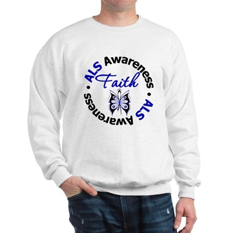 ALS Faith Butterfly Sweatshirt