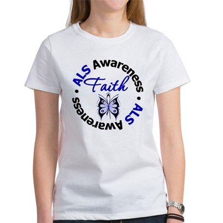 ALS Faith Butterfly Women's T-Shirt