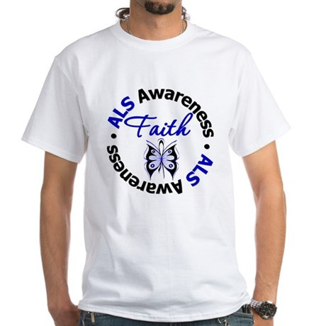 ALS Faith Butterfly White T-Shirt