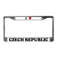 I Love Czech Republic License Plate Frame
