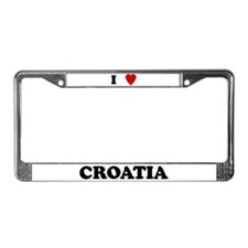 I Love Croatia License Plate Frame