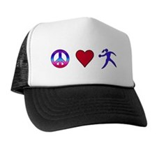 Peace Love Discus Trucker Hat