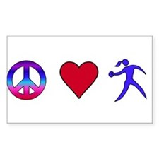 Peace Love Discus Decal