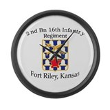 2nd Bn 16th Infantry Large Wall Clock