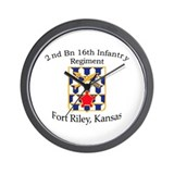2nd Bn 16th Infantry Wall Clock