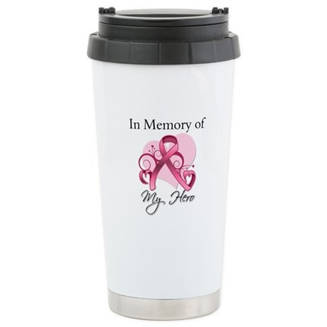Breast Cancer In Memory Hero Ceramic Travel Mug